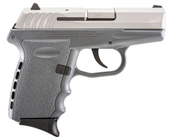SCCY CPX-2 TTSG 9mm Polymer Frame Pistol, Stainless on Sniper Grey, DAO 10+1 w/ 2 Mags