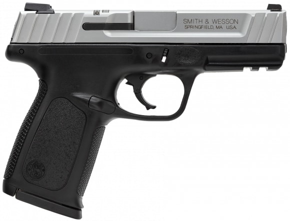 "Smith & Wesson 123903 SD VE *CA Compliant* Double 9mm 4"" 10+1 Black Polymer Grip Black"
