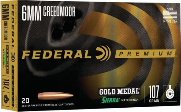 Federal GM6CRDM1 6mm Creedmoor 107 Srmtchking - 20rd Box