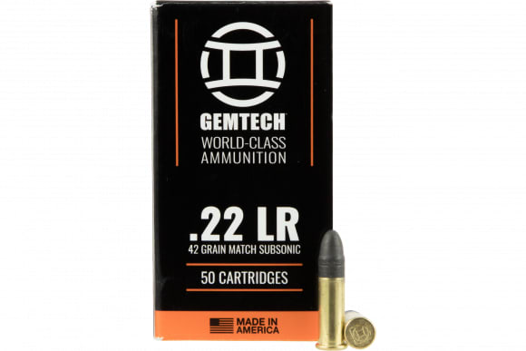Gemtech 22SS Subsonic 22 Long Rifle (LR) 42 GR Lead Round Nose 5000 Bulk 50 Bx/100Cs - 50rd Box