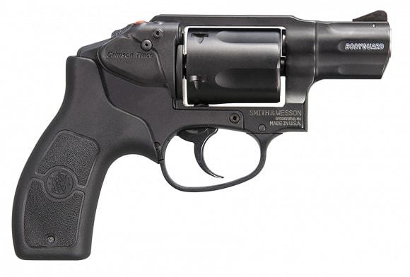 "Smith & Wesson 10062 Bodyguard 38 Crimson Trace Laser DAO 38 Spl 1.9"" #5 Shot Black Revolver"