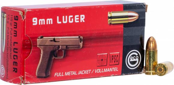 273440050 Geco 9mm LUG 115 GR FMJ GMBH - 50rd Box