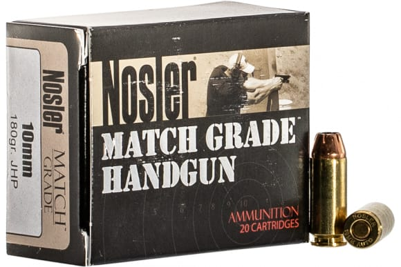 NOS 51400 Match HG 10MM 180 Jacketed Hollow Point - 50rd Box