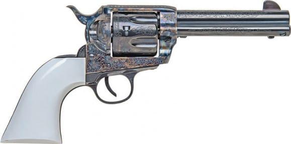 "Traditions SAT73110BTM 1873 SAA .45LC 4.75"" BLUED/CCH Bill Tilghman Revolver"