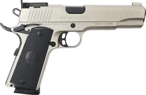 MKE Firearms 390094 MC1911 Match GOV'T ADJ. SGT Nickel