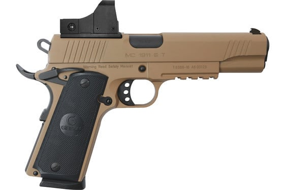 MKE Firearms 390065 MC1911S Government ADJ. SGT w/OPTIC FDE