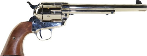 "Standard Manufacturing SAR7N1 MFG SAA 7.5"" Barrel Nickel Plated 1 Piece Grip Revolver"