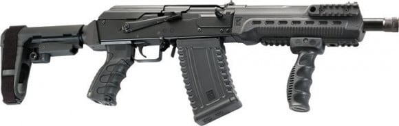 "Kalashnikov USA KS12KOMRAD Komrad 12GA. 12.5"" 3"" 2-5rd MagBlack SBA3 Brace"