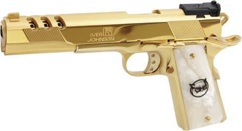 "Iver Johnson Arms GIJ40 Johnson Eagle XL Ported 6"" 24K Gold White Pearl"