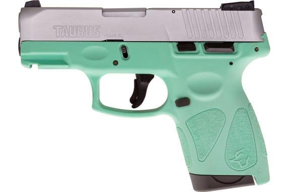 Taurus 1G2S939C G2S Slim 7rd3-DOT ADJ. SS/CYAN Polymer