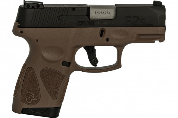Taurus 1G2S931B G2S Slim 7rd3-DOT ADJ. BROWN/BLACK Poly
