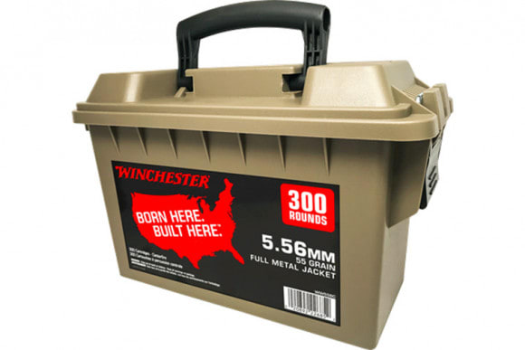 Winchester Ammo WW556C 556 55FMJ CAN - 300rd Can