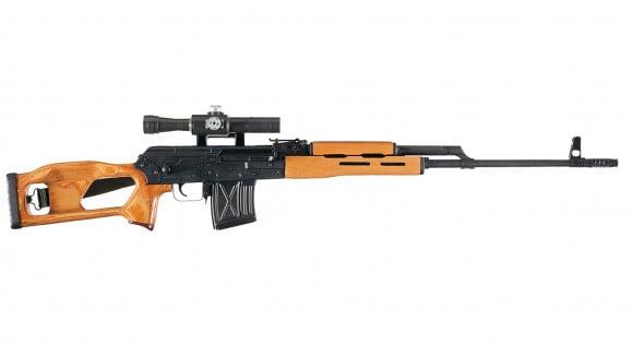 Romanian PSL-54 Rifle, 7.62x54R, 10rd, Laminated Stock, w/ Romanian Illuminated Reticle 4x24mm Optic