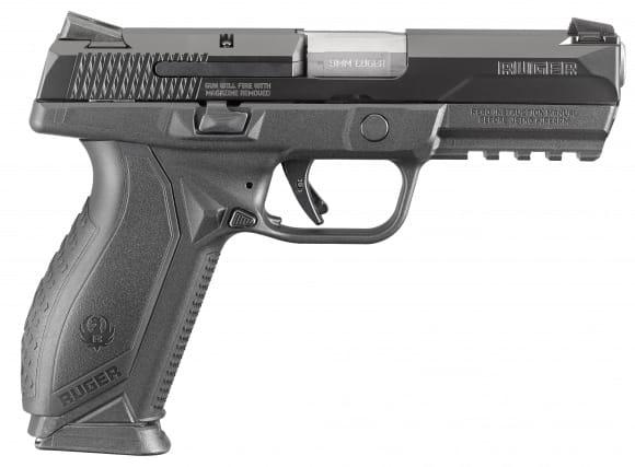 "Ruger 8605 American DA/SA 9mm 4.2"" 17+1 Black Interchangeable Backstrap Black"