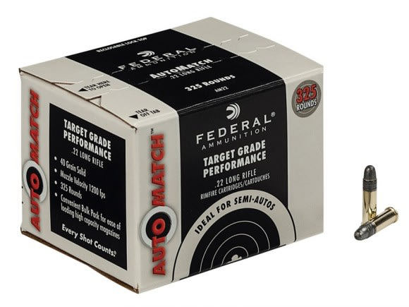 Federal AutoMatch 22LR 40 GR Lead Round Nose Ammo - 325rd Bulk Pack