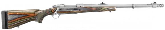 "Ruger 47125 Guide Gun Standard Bolt .375 Ruger 20"" 3+1 Laminate Green Mountain Stock Stainless Steel"