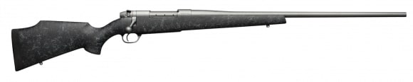"""Weatherby MWMS240WR4O Mark V Weathermark Bolt .240 Weatherby Mag 24"""" 5+1 Synthetic Black w/Gray Spiderweb Stock Gray Cerakote"""