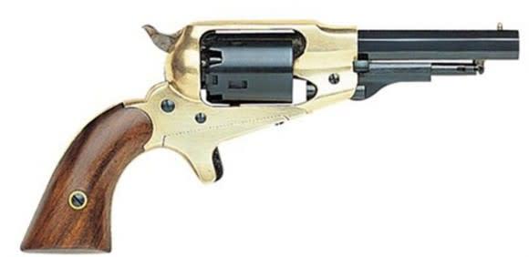 """Traditions FR186351 Pietta 1863 Remington Pocket Black Powder Revolver 31 Caliber 3.5"""" Barrel Brass Frame"""