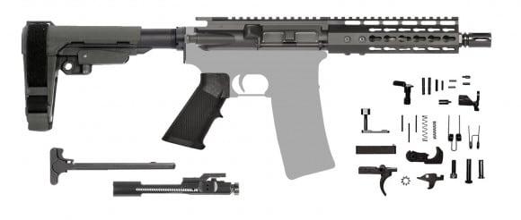 AR-15 Pistol Kit .300 Blk - 7.5 Barrel, Keymod Rail and SBA3 Pistol Brace