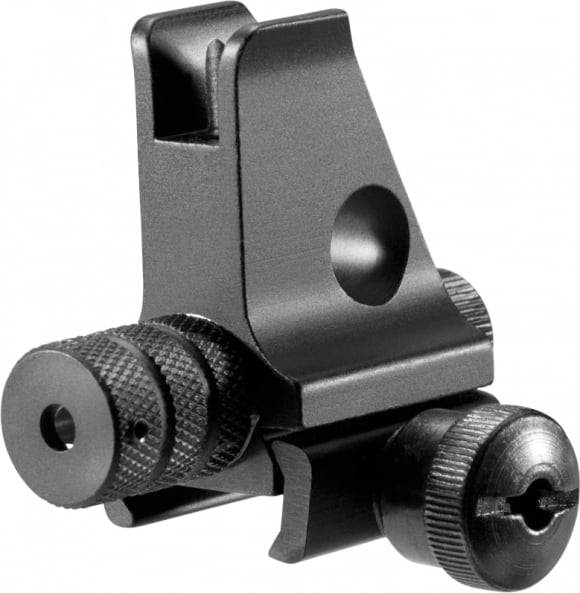 Barska AW11880 Front Sight AR Style with Intergrated Red Laser AR-15/M4/M16 Aluminum Red Black