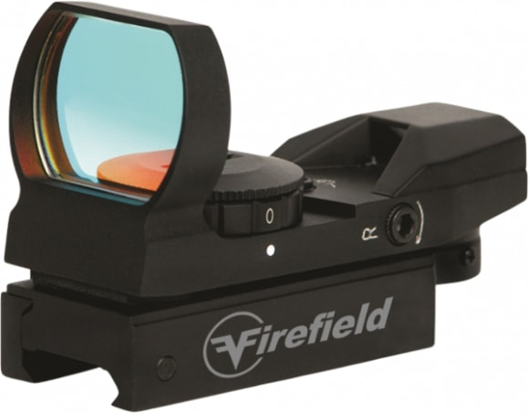 Firefield FF13004 Reflex 1x 33mm Obj Unlimited Eye Relief Multi-Reticle Black