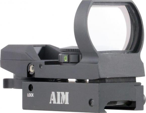 Aim Sports RT4WF1 Warfare Reflex Dual Illuminated 1x 24x34mm Obj Unlimited Eye Relief 3 MOA Black