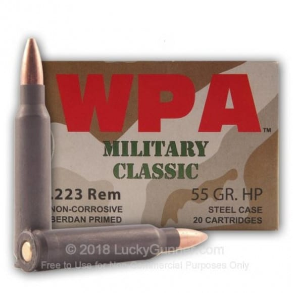 Wolf Military Classic .223 55gr HP Ammo - 20rd Box