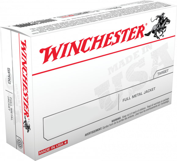 Winchester Ammo Q4318 Best Value 9mm NATO 124 GR Full Metal Jacket - 50rd Box