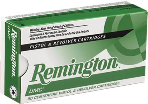 Remington Ammunition L40SW3 UMC 40 Smith & Wesson (S&W) 180 GR Metal Case (FMJ) - 50rd Box