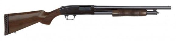 """Mossberg 50429 500 Retro 12GA. 3"""" 18.5"""" Plain Barrel Walnut Cylynder Shotgun"""