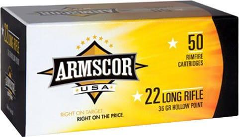 Armscor 50015PH 22 Long Rifle (LR) 36 GR Hollow Point - 50rd Box
