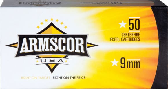 Armscor FAC92N 9mm Luger 115 GR Full Metal Jacket - 50rd Box