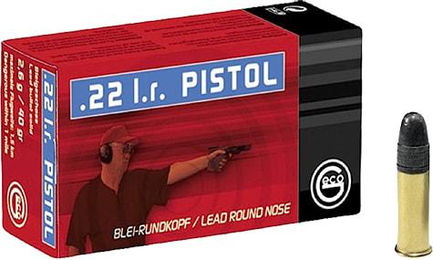 Geco 254040050 22LR Lead Round Nose Rifle 40 GR - 50rd Box