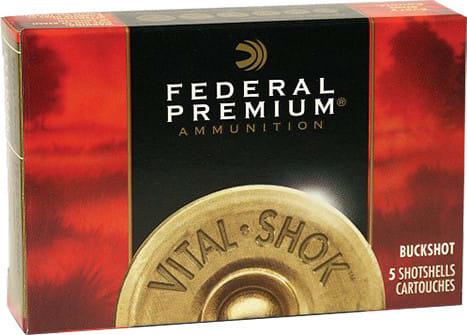 "Federal P1584B Vital-Shok 12GA 3"" Buckshot 41 Pellets 4 Buck - 5sh Box"