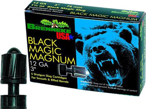 """Brenneke SL123BMM Black Magic Magnum 12GA 3"""" 1-3/8oz Slug - 5sh Box"""