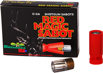 "Brenneke SL122RMS Red Magic 12GA 2.75"" 1oz Sabot Slug Shot - 5sh Box"