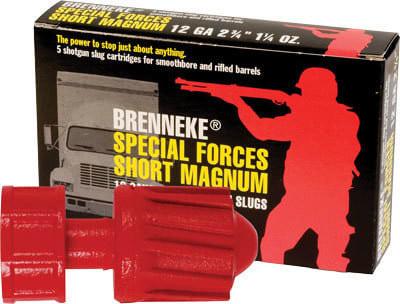 "Brenneke SL122SFM Special Forces 12GA 2.75"" 1-1/4oz Slug Shot - 5sh Box"