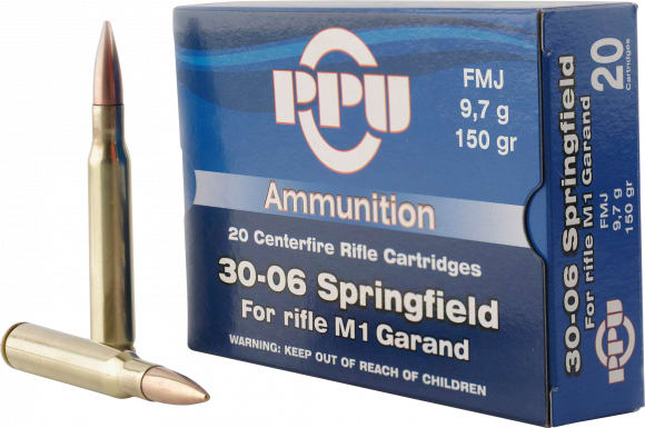 PPU PP3006G Standard Rifle 30-06 150 GR Full Metal Jacket - 20rd Box
