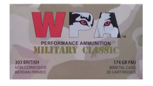 Wolf Military Classic 303 British 174gr FMJ Ammo - 20rd Box