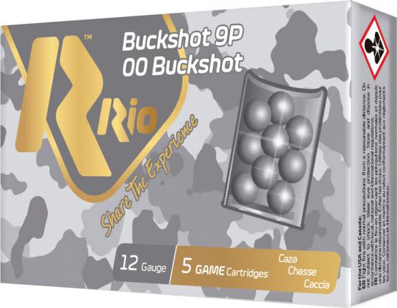 RIO Ammunition Ammunition Ammunition RB129 12 2.75 Oobk 9PEL Buck - 5sh Box