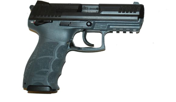 "HK P30S V3 Ambi Safety DA/SA 9mm 3.85"" 15+1 (2) Mags Grey/Black Interchangeable Backstrap"