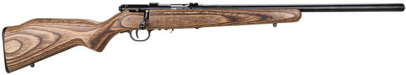 """Savage 96734 93R17 BV Bolt 17 HMR 21"""" 5+1 Laminate Wood Stock Blued"""