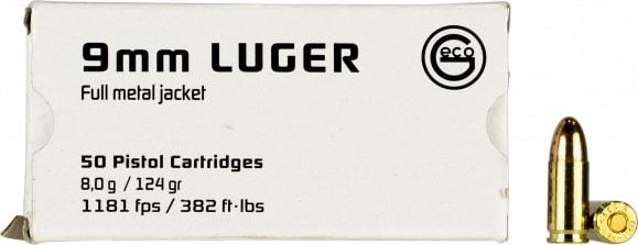 Geco 220340050 9mm FMJ 124 GR - 50rd Box