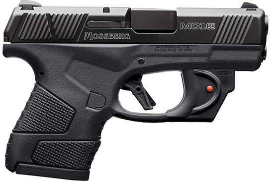 Mossberg 89004 MC-1 Striker PSTL 9 3.4 Black 6+1 RD/LSR