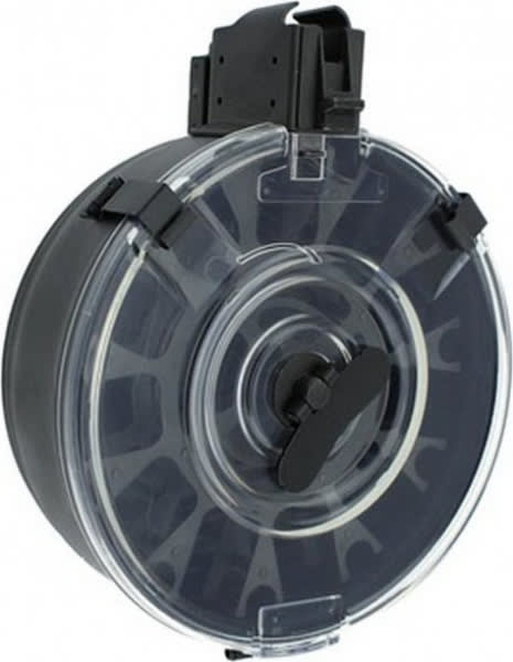 Korean AK-47 75 Round Drum Magazine, with Clear Back Window