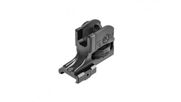 UTG AR15 Super Slim Fixed Rear Sight, Picatinny, Black - MT-950RS03