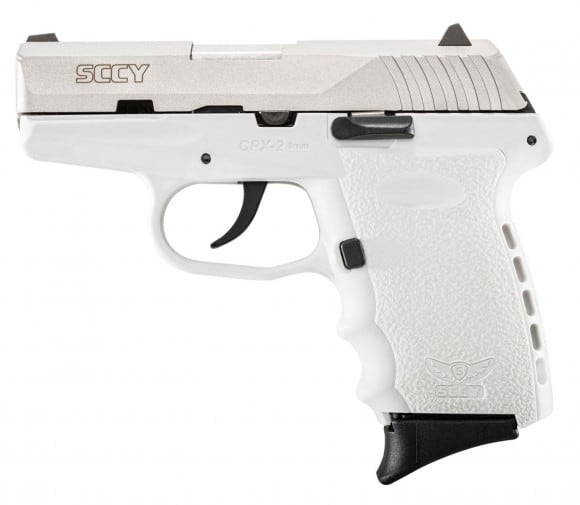 """SCCY CPX2TTWT CPX-2 Double 9mm 3.1"""" 10+1 White Polymer Grip/Frame Grip Stainless Steel"""