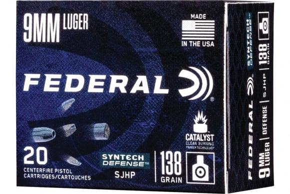 Federal AE9SJT1 9mm 138 SJHP - 20rd Box