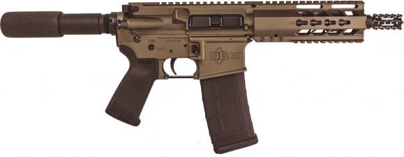 "Diamondback DB15PBB7 DB15 AR Pistol Semi-Auto 7.5"" 30+1 Polymer Burnt Bronze"