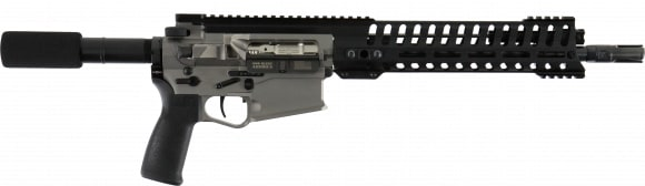 """Patriot Ordnance Factory 01392 Revolution AR Pistol Semi-Auto 12.5"""" 20+1 Polymer Nickel Receiver/Black Barrel"""